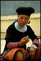 Hmong woman, near Yen Chau. Northwest Vietnam ( color)