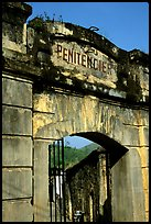 Door of the infamous colonial  prison, Son La. Northwest Vietnam