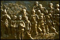 Bas relief celebrating the victims of the French rule, Son La. Northwest Vietnam