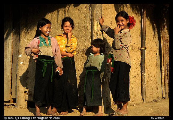 Montagnard Children near Tuan Giao. Northwest Vietnam (color)