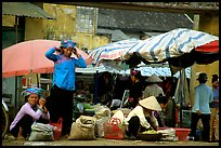 Montagnard women in market, Tam Duong. Northwest Vietnam (color)