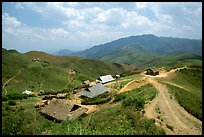 Hamlet near the pass between Son La and Lai Chau. Northwest Vietnam (color)