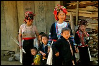 Hmong family near Lai Chau. Northwest Vietnam (color)