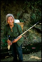 Hunter holding an old rifle, near Lai Chau. Northwest Vietnam