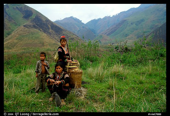 Hmong people in the Tram Ton Pass area. Northwest Vietnam (color)