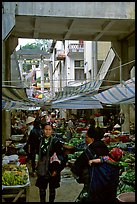 Black Hmong people at the Sapa market. Sapa, Vietnam