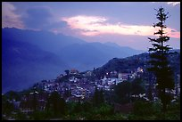 Sapa at sunset. Sapa, Vietnam ( color)