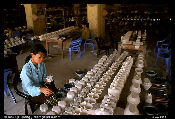 Ceramics factory, Bat Trang. Bat Trang, Vietnam (color)