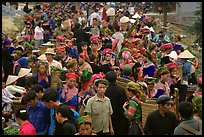 Crowded market. Bac Ha, Vietnam (color)