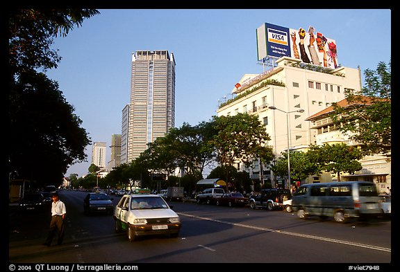 Renovated city boulevards. Ho Chi Minh City, Vietnam (color)