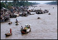 Heavy activity on the river. Can Tho, Vietnam