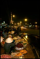 Night market, with the little Eiffel Tower in the background. Da Lat, Vietnam ( color)