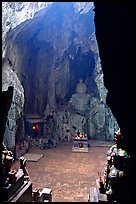 Troglodyte sanctuary in the Marble Mountains. Da Nang, Vietnam