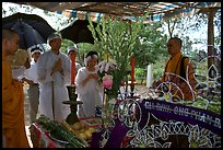 Mourning at a countryside funeral. Ben Tre, Vietnam (color)