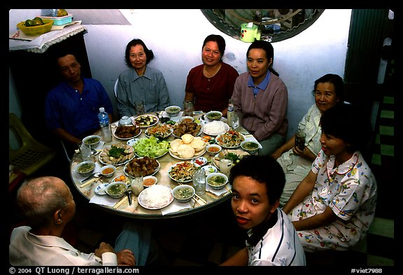 Family meal. Ho Chi Minh City, Vietnam