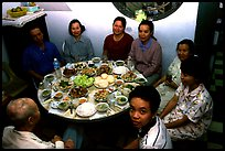Family meal. Ho Chi Minh City, Vietnam (color)