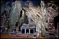 Troglodyte temple, Marble Mountains. Da Nang, Vietnam ( color)