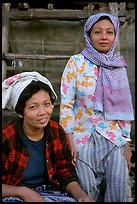Muslem women from Cham minority village, near Chau Doc. Vietnam