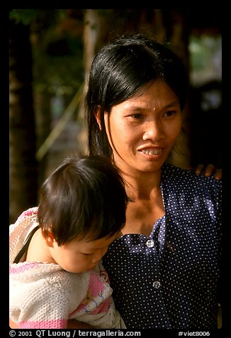 Young mother and child, near Ben Tre. Vietnam