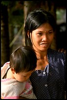 Young mother and child, near Ben Tre. Vietnam ( color)