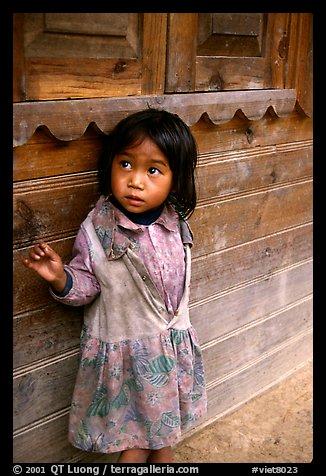 Girl of minority village, near Dalat. Vietnam (color)