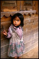 Girl of minority village, near Dalat. Vietnam ( color)