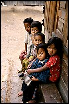 Children of minority village. Da Lat, Vietnam (color)