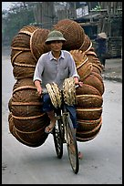 How large a load can you have on  a bicycle ?  On the way to the Perfume Pagoda. Vietnam ( color)