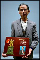 Former militia member with certificate of heroism, Hanoi. Vietnam ( color)