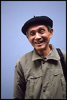 Man wearing the French beret, Hanoi. Vietnam