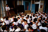 Children at school. Like everywhere else in Asia, uniforms are the norm. Ho Chi Minh City, Vietnam