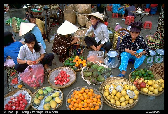 A variety of tropical fruit for sale. Ho Chi Minh City, Vietnam