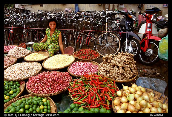 Vegetables and spices. Ho Chi Minh City , Vietnam (color)