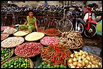 Vegetables and spices. Cholon, Ho Chi Minh City, Vietnam (color)