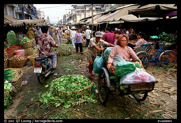Fresh vegetable market. Cholon, Ho Chi Minh City, Vietnam (color)