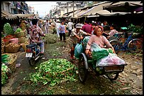 Fresh vegetable market. Cholon, Ho Chi Minh City, Vietnam