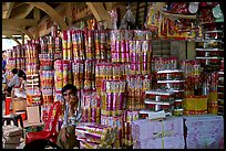 Incense wholesale, Binh Tay Market, District 6. Cholon, Ho Chi Minh City, Vietnam (color)