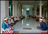 Ceremony in mosque in Cham minority village. Chau Doc, Vietnam (color)