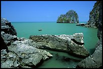 Limestone towers. Hong Chong Peninsula, Vietnam (color)