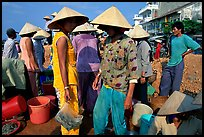 Colorful fish market. Ha Tien, Vietnam ( color)
