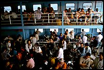 Inside a ferry on the Mekong river. My Tho, Vietnam (color)