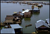 Floating houses, Lake Langa. Vietnam (color)