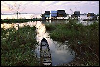Stilts houses. Chau Doc, Vietnam (color)