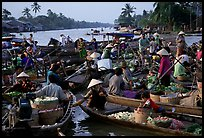 Floating market at Phung Hiep. Can Tho, Vietnam