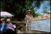 Buying groceries on the Phong Dien floating market. Can Tho, Vietnam