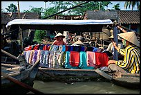 Garnments for sale on the Phong Dien floating market. Can Tho, Vietnam