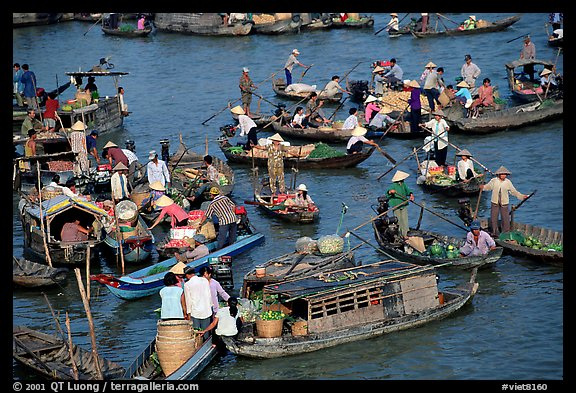 Floating market of Cai Ran. Can Tho, Vietnam (color)