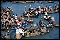 Floating market of Cai Ran. Can Tho, Vietnam ( color)