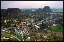 Marble mountains seen from Thuy Son. Da Nang, Vietnam
