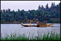 On the Perfume river. Hue, Vietnam (color)
